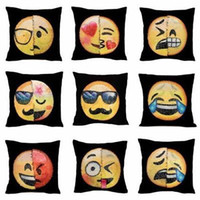 Wholesale Quality Pillow Cases - Emoji Sequins Pillows Case 40*40cm Pillow Cover Throw Cushion Cover Sofa Nap Cushion Covers Home Decor Maternity Pillows 12 style YYA710
