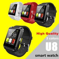 Wholesale free smart meter resale online - inch Touch Screen U8 Watch Phone Bluetooth Smartwatch Phone Support Music Player Pedometer Barometer For Smart Phone DHL
