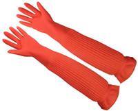 ingrosso guanti di gomma lunghi di pulizia-Guanti in lattice Durevoli lavori domestici Guanti per la casa Lavaggi per cucina Pulizia guanti di gomma lunghi LLFA