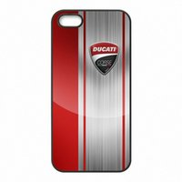 Wholesale shell logo - Ducati Moto Logo Phone Covers Shells Hard Plastic Cases for iPhone 4 4S 5 5S SE 5C 6 6S 7 Plus ipod touch 4 5 6