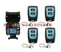 Wholesale Mini Remote Receiver Transmitter - Wholesale- DC 12 v mini wireless remote control switch 1channal Intelligent family system 1X receiver+4X waterproof transmitter