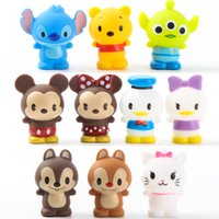 Wholesale Squirrel Cats - 10PCS Set Minnie Mickey Donald Squirrel Cat So Cute Tsum Tsum Soft Plastic Figures Kids Toys For Children Toys Gifts giocattoli
