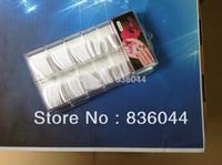bouts des ongles blanc achat en gros de-Vente en gros- 100pcs Astuces blanches Pleine Couverture Faux Français Gel Acrylique Gel UV Outils Boîte Paquet Nail Art Salon Conception Manucure