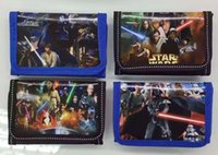Wholesale Wholesale Coin Supplies - 24pcs Fashion Cartoon Star Wars Coin Purse Children Zip Change Purse Wallet Gifts for the children in the party supplies