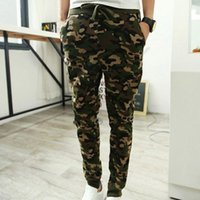 Wholesale Hip Hop Camo Clothing - 2017 Casual Men Pants Camouflage Hip Hop Army Pants Brand Quality Cool Camo Clothing Fashion Military Trousers M-2XL Men Joggers