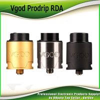 Wholesale E Cig Pro - Original VGOD Pro Drip RDA Atomizer 24mm Diameter with Authentic Direct Bottom Draw Airflow fit 510 Mods E Cig Mods 100% Genuine 2247002