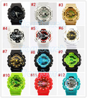 order lead time - 5pcs remark relogio G110 men s sports watches LED chronograph wristwatch military watch digital watch support mix color order dropship
