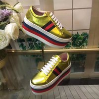 Wholesale Matches Design - 2017 Luxury New Design Women Platform Sneakers Match Color Thick Bottom Spring Autumn Casual Shoes European Round Toe Fashion Footwear C17