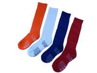blue football socks Canada - 2017 Wholesale Children Football Socks Boys Soccer Sock Kid's Above Knee Plain Socks Long Soccer Stockings Men Over Knee High Sock Baseball