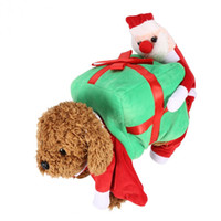 Wholesale Female Funny Costumes - Creative funny Pet Dog Clothes Funny Santa Claus Christmas Pumpkin Costumes Cute Puppy Cat Warm Winter Pet Coat Clothing ropa para perros