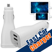 Wholesale Logo Au - For Samsung Fast Charger Dual Port Car Charger Output 2A Adaptive Fast Charging Car Charger MobilePhone Travel Adapter With Logo Opp Package