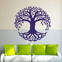 Wholesale Tree Life Wall Decal - 2017 Hot Sale Wall Decor Vinyl Sticker Decal Celtic Tree Life Tribal Nature Bedroom Living Room Creative Wall Decal Decorative Murals Vinyl