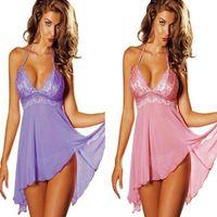Wholesale G Bell - Plus Size Womens Sexy Lingerie Lace Dress Underwear Babydoll Sleepwear+G-string