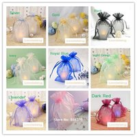 Wholesale craft supply bag - 19 colors Pick--100PCS 10x15cm Sheer Organza Wedding Party Favor Gift Candy Bags Jewelry Pouches Festive Supplies Decor Crafts