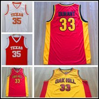 Wholesale Cheap Texas Longhorns College Kevin Durant Basketball Jerseys Oak Hill High School Kevin Durant Jersey Red Orange Yellow White Stitche
