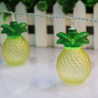 Wholesale Dry Fruits - Wholesale-3V 1.65M 10 Pineapple LED String Lights Holiday Party Led Tropical Fruit Light Patio Lanterns Garden Lights Battery Powered