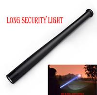 Wholesale Self Defense Security Led Flashlight - Long Security Light 1800 Lumen Baseball Bat Shape Q5 LED 18650 Flashlight Torch 3 Mode Self-defense flashlight