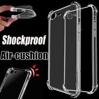 Wholesale Wholesale Air Shocks - Air Cushion Case Ultra Thin Slim Transparent Clear Anti-shock Soft TPU Gel Cover For iPhone X 8 7 Plus 6 6S Samsung S8 S7 edge Note 5