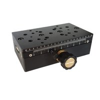 slides lineares venda por atacado-Estágio linear manual da linha central de PT-SD103P X, estação de deslocamento manual, plataforma manual, tabela deslizante ótica, curso de 75mm