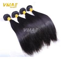 Wholesale Double Drawn Virgin Indian Hair - 7A Grade double drawn Indian Hair Straight 3 Bundles Lot Unprocessed virgin Human Hair Black Hair Weave Cheap Price No Tangle