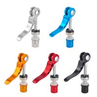 Wholesale Quick Release Seat Clamp - Outdoor Bicycle Aluminium Alloy Quick Release Bike Seat Post Clamp Seatpost Skewer Bolt Mountain Bike Seat Tube Clamp 5 Colors 2505081