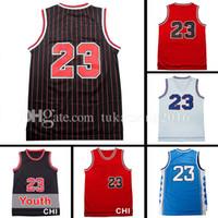 Wholesale Stripe Sleeveless - Men's #23 Throwback Mesh Basketball Jersey Black stripe Rev 30 Embroidery Sportswear Jerseys Retro S-2XL 44-54 free shipping new arrival