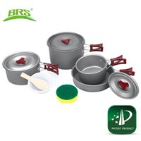 Dinner Box outdoor dinner sets - BRS persons Outdoor Camping Picnic Cookware Cooker pots and kettles sets Kits Camping Equipments