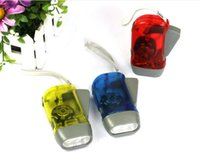 Wholesale 3LED Hand Press no Battery LED Flashlight Torch Camping Outdoor for gift