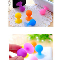 Wholesale octopus suckers - Wholesale Cell Phone Mounts Silicone Ball Octopus shape sucker phone holder Stand colorful mobile phone support zpg253