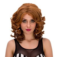 Acheter Women S Short Wigs-Perruque de mode New Charm women's Stylish Stunning Mix Blonde Synthétique Curly Short CW Hair Cheveux synthétiques bouclés Africa Woman Short Wig 4 couleurs
