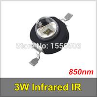 infrarot führte hohe leistung großhandel-100 Teile / los 3 Watt Infrarot IR 850nm High Power LED Perle Schwarz LEDs Emitter DC1.8-2.2V CCTV Kamera IR Diode für Sicherheit