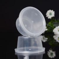 ingrosso tazze di gelatine-Mini tazza di condimento con coperchi 1 oz Jello Shot Bicchieri in plastica a prova di perdite Jelly Pudding Mug Transparent 11 9jd R