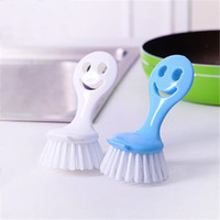 Wholesale Cartoon smiling face high quality brush to wash brush pot dishes tableware cleaning brush decontamination health can be suspended TT231