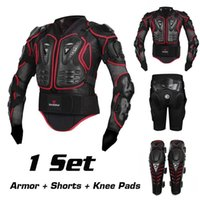 Wholesale Xxl Body Armor - Motorcycle Motocross Off-Road Enduro ATV Racing Full Body Protective Gear Protector Armor Jacket + Hip Pads Shorts + Knee Pads