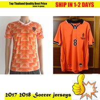 Wholesale Uniform Camp Shirts - 1998 World Cup Dutch team classic football suits 98 years of the Netherlands retro jersey Camp uniforms 1988 retro shirts +10 free DHL
