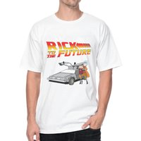 Wholesale Back Future Shirt - Rick and Morty Back to the Future T-Shirt 1062 Vintage DESIGN T-shirts FASHION MALE SHORT SLEEVE O-NECK T Shirts WHITE TEE PLUS EUROPE SIZE