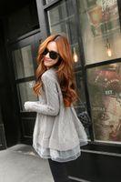 coreano vestido de renda senhora venda por atacado-Atacado-Novo chegada 2016 mulheres tutu lace vestido de camisola senhoras moda camisola de malha vestidos estilo coreano jumper de mulher tops