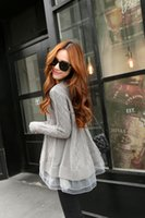 Wholesale Knitted Tutu Tops - Wholesale-New arrival 2016 women tutu lace dress sweater ladies fashion knitted sweater dresses Korean style woman jumper tops