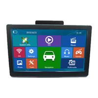 Wholesale igo gps new map resale online - 7 inch Touch Screen Truck Car GPS Navigator HD WINCE MP4 FM Transmitter GB Europe America IGO D Maps