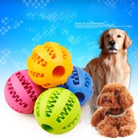 Wholesale Dog Tooth Ball - 2017 Dog Toys Chews Ball Dog Tooth Cleaning Balls Bite Resistant Rubber Watermelon Shape Pet Toys Cleaning Balls Food Chew Toy 5cm XL-G318
