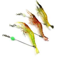 Wholesale Crank Lures Shrimp - 3pcs Mixed Color Spinner Fishing Lures Bass CrankBait Crank Bait Shrimp Hook F00135 SMR