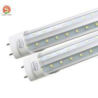 soğutucu kapı ışığı 6 ft toptan satış-T8 LED Tüp Işık g13 2 pin 8ft 6FT 5FT 4FT 1.2 M-2.4 m LED V Şekli Çift Glow Işık soğutucu kapı