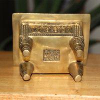 ingrosso bruciatore drago-Cina Pure brass Carving Dragon Beast Ricchezza Ding Bruciatore di incenso Censer Statua decorazione della casa