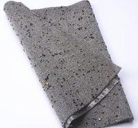 vestido de diamante de strass venda por atacado-Frete grátis 24x40 cm / peça diamante preto Strass Malha Trim Hotfix Strass Apliques De Cristal Vestido de Noiva Decorativo