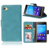 Wholesale Xperia Z Wallet Flip Case - Case for Sony Xperia Z5 Z 5 Compact LTE E5803 E5823 SO-02H Phone Leather Cover Flip Case for Sony Z5 Z5c Z 5 mini Z5mini E 5823