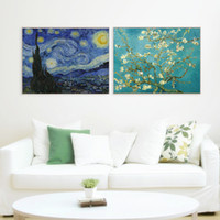 Wholesale Van Gogh Oil Canvas - Famous Van Gogh Monet Oil Painting on Canvas HD Print Wall Picture Home Decor Modern Abstract Art Painting Unframed