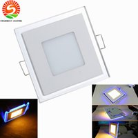 Wholesale celling led lights resale online - Dimmable LED Ultrathin panel lights W W W downlight LED celling lamp indoor lighting AC85 V