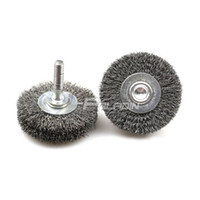 Metalworking painting steel wheels - 1 piece mm M6 Mounted Steel Wire Grinding Wheel Air Sander Tool Metal Paint Rust Removal Deburring