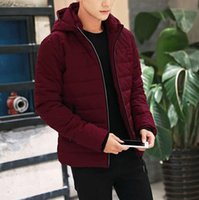 Wholesale Quilted Sleeves - Winter Jacket Men 2016 Brand Parka Men Clothing Zipper Cotton Padded Hooded Thick Quilted Jackets Coat Mens Hoodies
