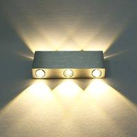 led g4 down light achat en gros de-Moderne Pur Blanc 18 W Haute Puissance 6 LED Up Down Applique Murale Spot Light Applique Éclairage Applique Miroir Convexe LED Applique Murale Décor